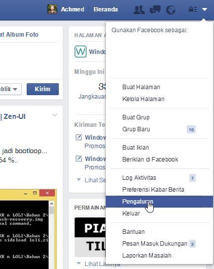 Cara Mengakses Pengaturan Di Facebook