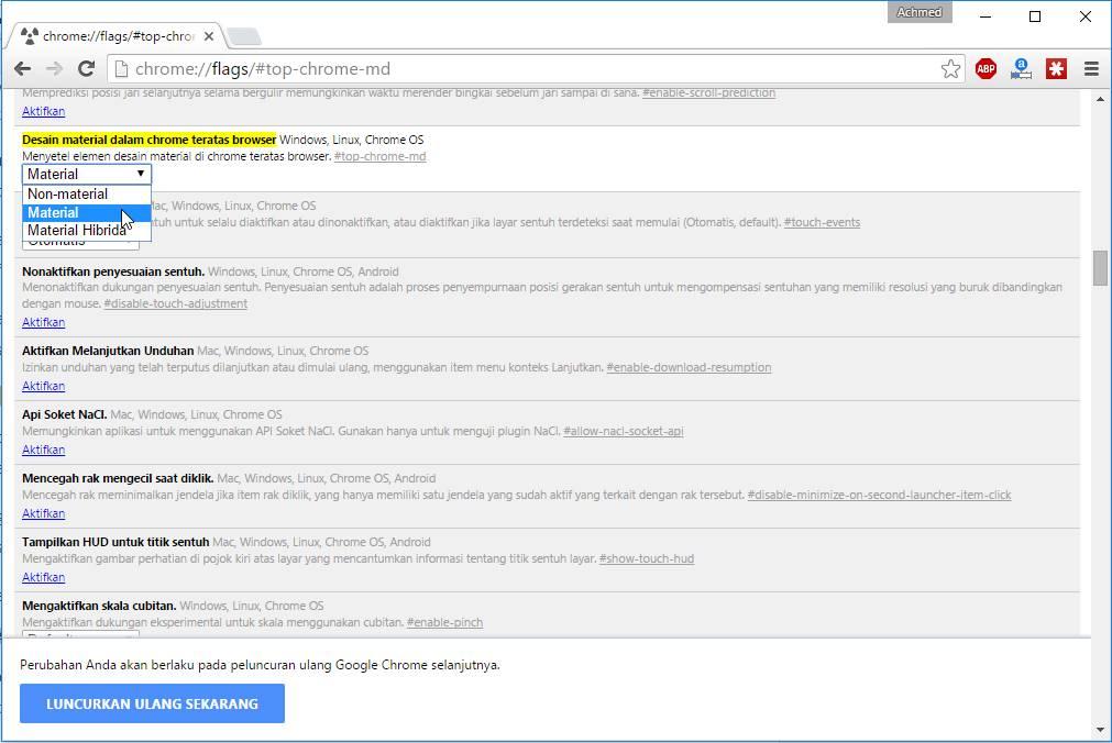 Mengubah Toolbar Chrome Menjadi Material Design