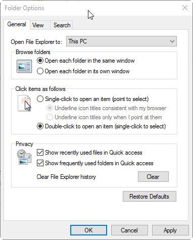 Mengganti Direktori Awal File Explorer