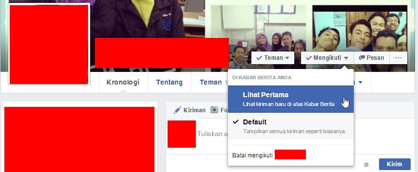 Melihat Update Pertama Kali Untuk Teman Di Facebook 1
