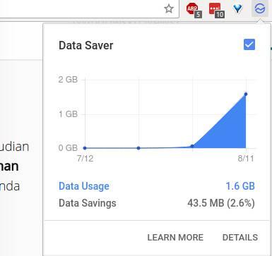 Memantau Data Saver