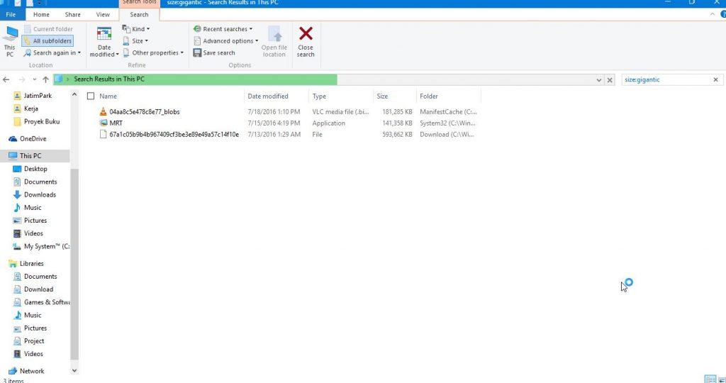 Mencari Data Di File Explorer