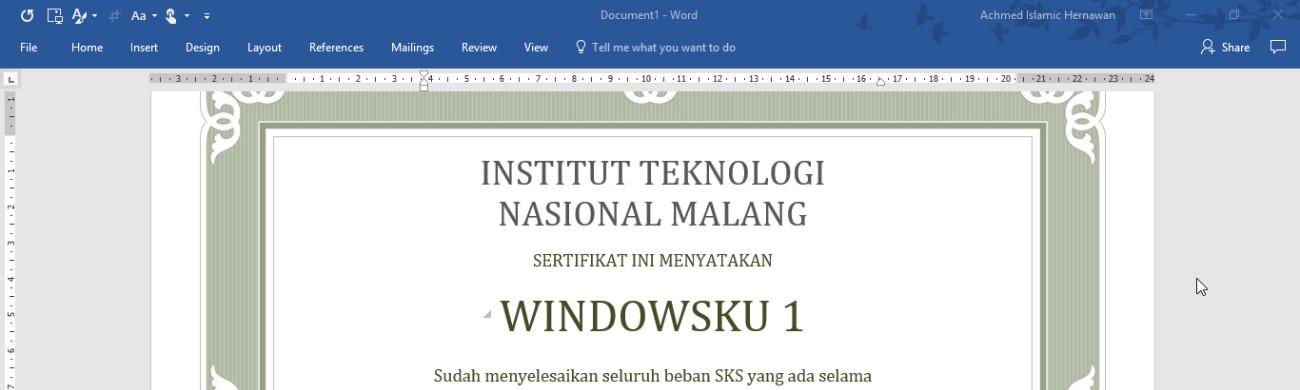 Cara Cepat Membuat Sertifikat Di Microsoft Word Dengan Data Dari