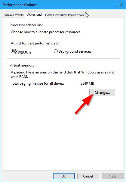 Pengaturan Virtual Memory Windows 10