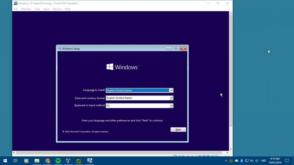 Instalasi Windows 10 Di Virtualbox