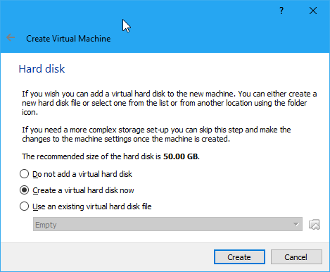 Membuat Virtual Hard Disk Virtualbox