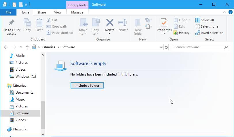 Menambah Folder Ke Library
