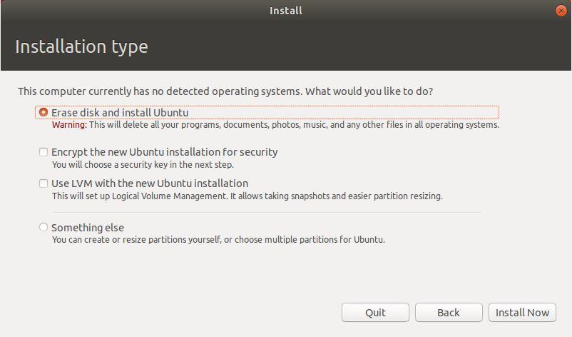Tipe Instalasi Ubuntu