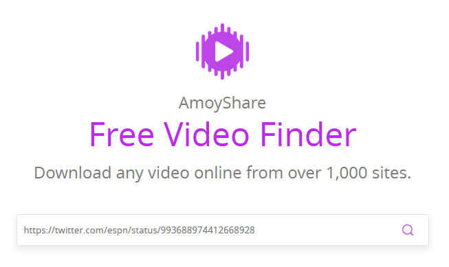 Amoyshare Download Video