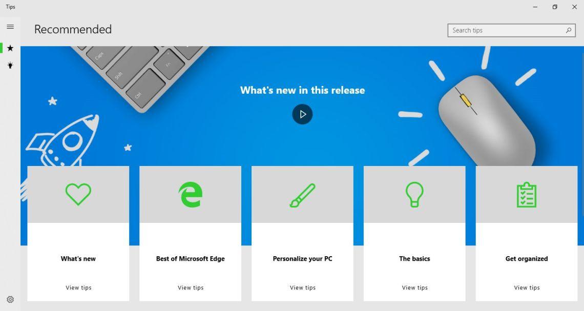 Aplikasi Tips Windows 10