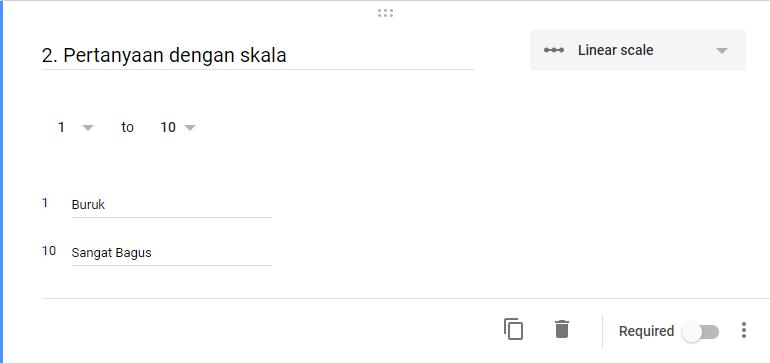 Google Form Pertanyaan Skala
