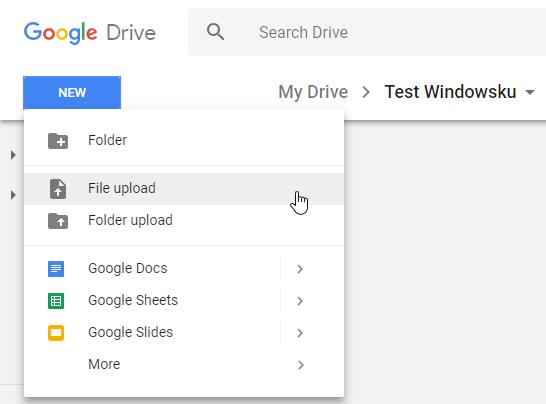 Upload File Ke Google Drive