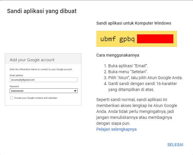 Password Aplikasi Google Account