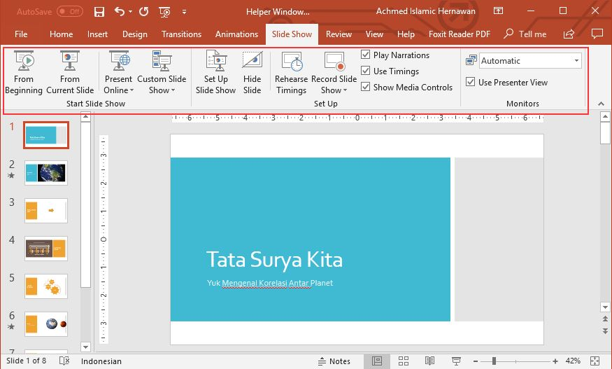 Pengaturan Slideshow Powerpoint