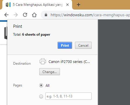 Print Di Chrome