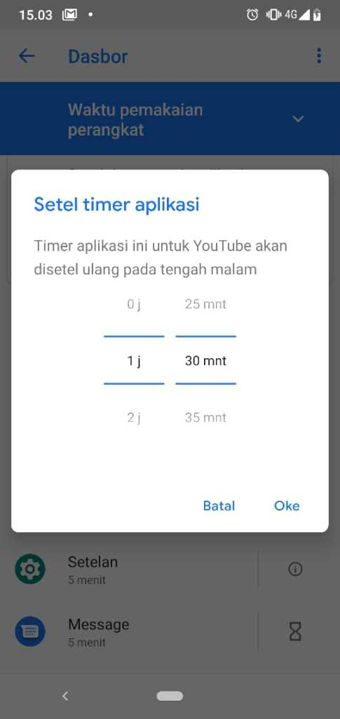 Mengatur Timer Aplikasi Kesehatan Digital Wellbeing Android