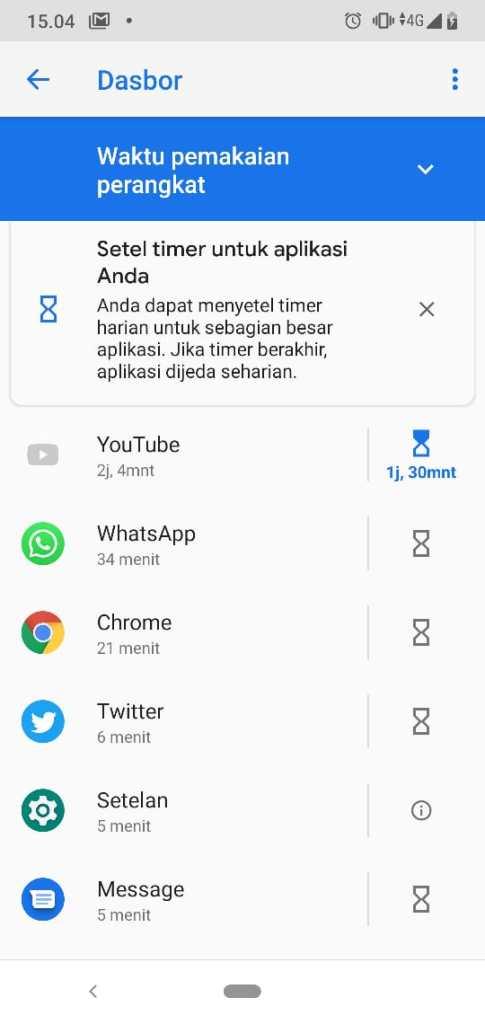 Selesai Mengatur Timer Kesehatan Digital Wellbeing Android