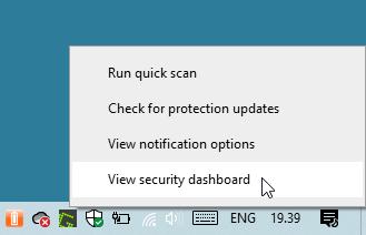 Klik Kanan Windows Security