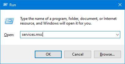 Membuka Services Msc Melalui Run Windows