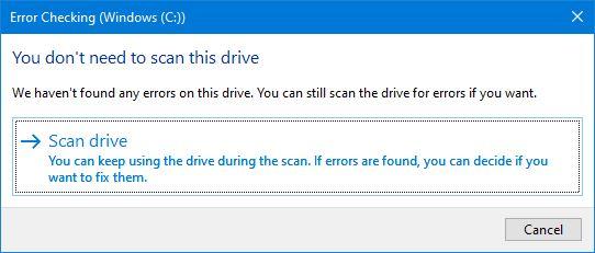 Mulai Mengecek Error Partisi Windows