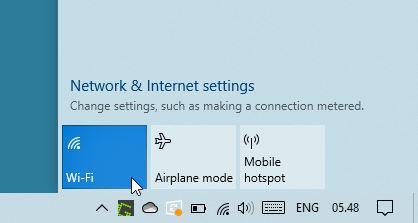 Tombol Hidupkan Matikan Wifi Windows 10