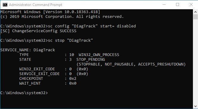 Mematikan Diagnostic Tracking Windows