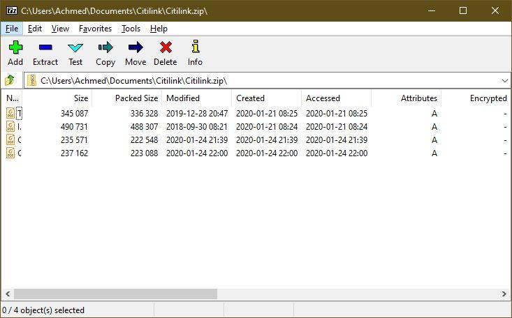 Aplikasi 7 Zip Windows