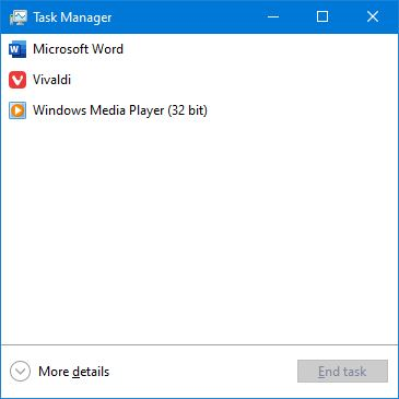 Task Manager Simpel Windows 10