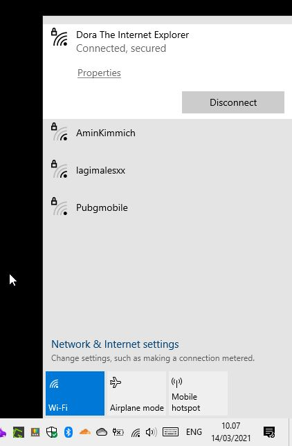 Daftar Wifi Windows