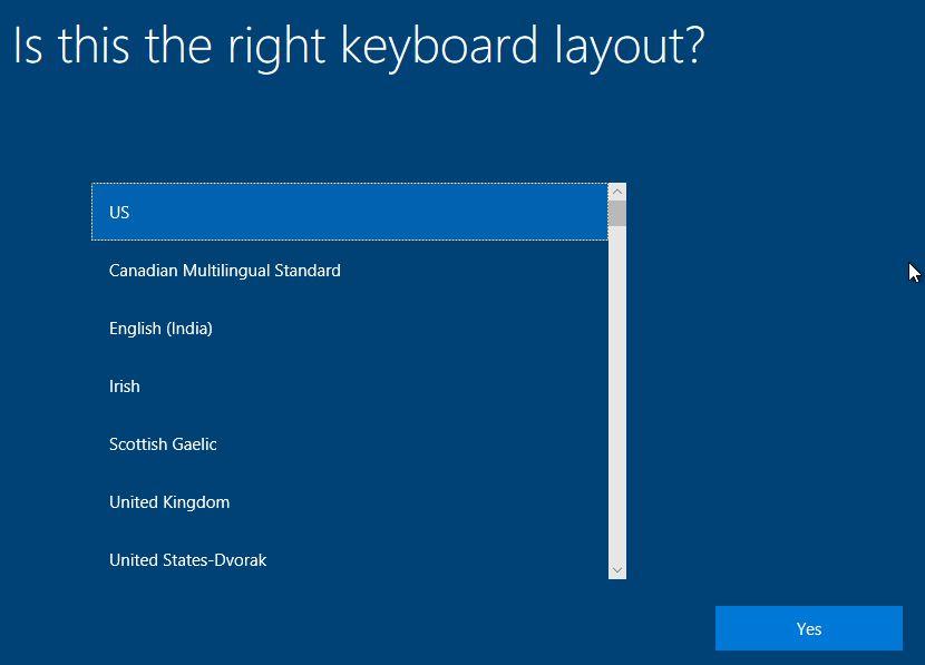 Memilih Keyboard Layout Windows 10 Virtualbox