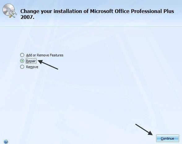 MS office repair Microsoft Word