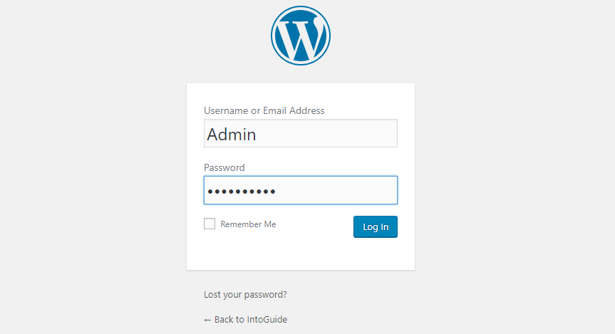 Wordpresss log in when you Install And Configure XAMPP on Windows 10