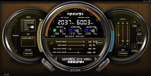 EVGA Precision X overclocking software