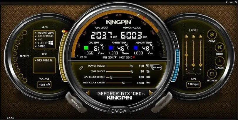 EVGA Precision X overclocking software