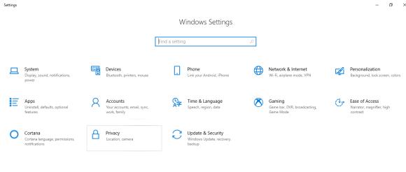 Windows audio Settings