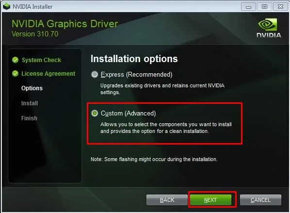 NVIDIA graphics driver