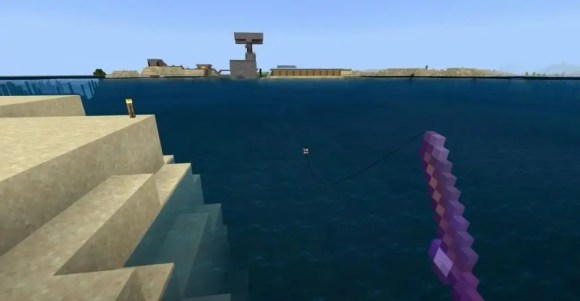 minecraft mending with fishing trick