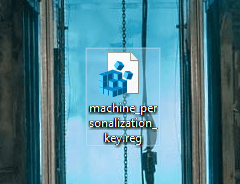 Registry key backup saved on chosen destination
