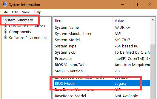 Look At Bios Mode - If Legacy, PC only supports BIOS. If UEFI, PC supports UEFI