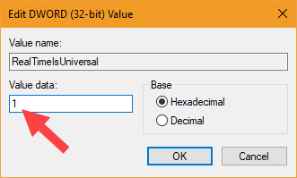 Change Value Data To 1