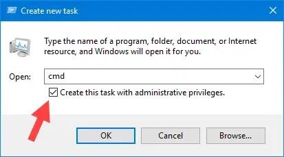 Win10 Start Menu Not Working Open Cmd Run Command
