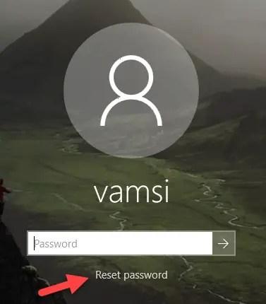 Change security questions - reset password
