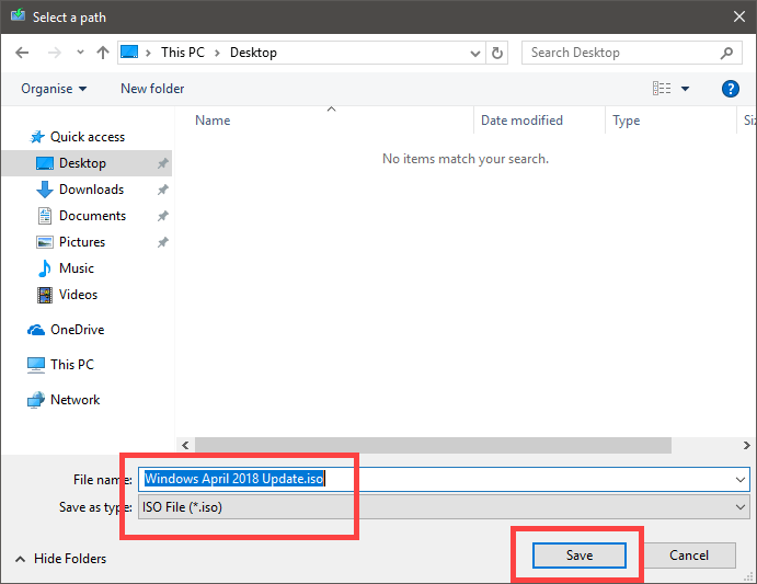 Download windows 10 iso - save iso file