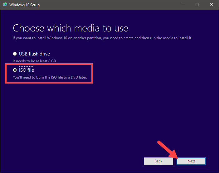 Download windows 10 iso - select iso file