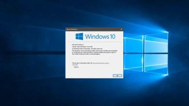 Windows 10 version number