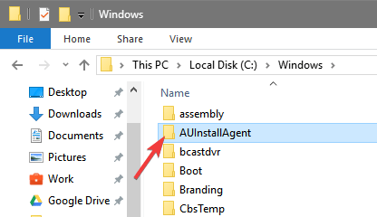 Fix 0x80244018 error - create and name folder