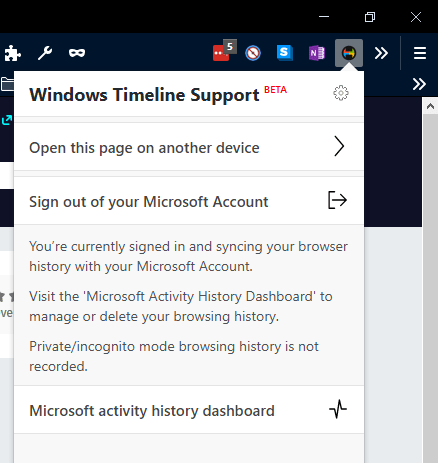 Win10 timeline - firefox sign in complete