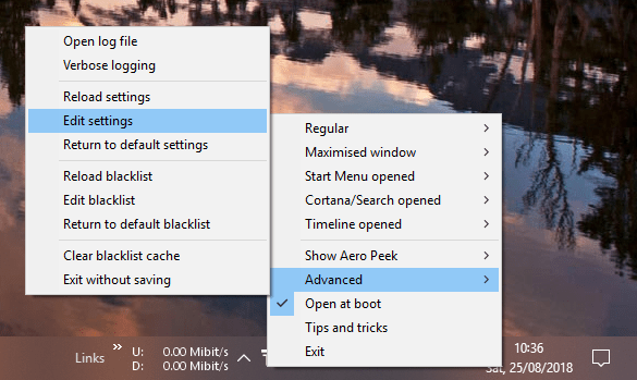 Translucenttb settings