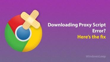 Downloading proxy script