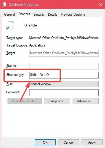 Store app shortcut assign keyboard shortcut